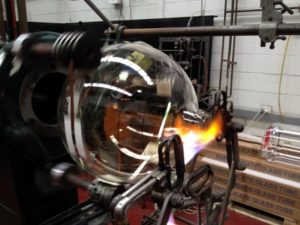 Glassblowing under way