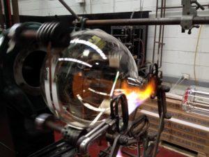 Glassblowing under way